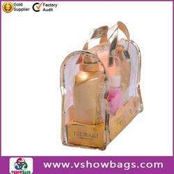 Fashion supermarket gift promoting PVC tote toiletry bag