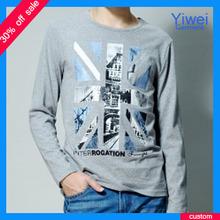 Bulk Fashion British Style Mens T Shirt Manufacturer Printing T Shirt