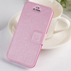 100% fit Magnetic Silk skin PU Leather phone protect Case For iphone 5/5s/5c flip cover