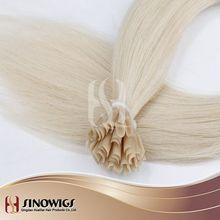 white blond remy human hair keratin hair extension