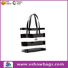 2014 promotion durable stripe tote plastic shopping bag for toiletry