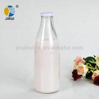 1000ml 1L glass milk bottle with lug cap