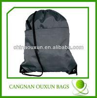 portable polyester drawstring bag