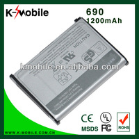 1200mah High Capacity mobile phone battery for Centro Palm 685 690 Treo 800w