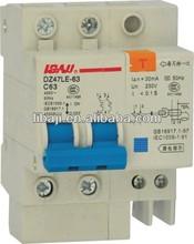 mini leakage circuit breaker with earth leakage trip
