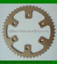 Dajin 1045 steel sprocket motorcycle/motorcycle parts chain sprocket
