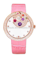 colorful attractive ladies new diamond luxury watch ,fashion and unique