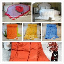 purple satin comforter