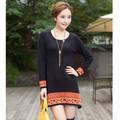 Nacional estilo cashmere malha vestido diária para jovem senhora