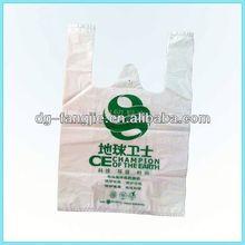 Natural green fashion t-shirt packing bag
