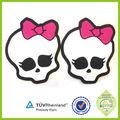 Nuevo producto innovador alta calidad de silicona o pvc nombres de marca logotipos imágenes de etiquetas de prendas de vestir