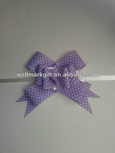 HOT SALE ! Polka Lilac Poly Ribbon Ready-made Butterfly Pull Bow for Valentine's Present Wrapping Decorations