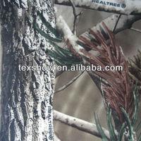 forest printing brush warp knitting fabric with TPU laminated