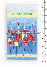 New Design Hot selling fishing float set.Plastic/Foam fishing float.