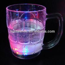 LED glow lighting up drinking glasses, led drinkware