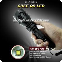 GoldRunhui RH-F0516 Uniquefire HS-802 1 Mode Cree Q5 Led 3w Green Light Hunting Led Flashlight