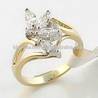 Gold Plated Thin Band Fashion Ring