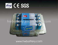 1.5v aaa dry cell clam shell package battery