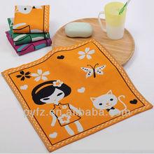 New style 100% cotton gauze towel/kerchief factory price three layers gauze face towel/hand towel three colors option