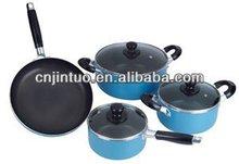 7pcs aluminium non-stick flavor stone cookware