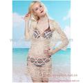 sexy de ganchillo de algodón túnica playa 2014