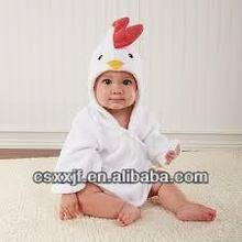 New Arrival style warm cheap hood animal cotton babies bathrobes/baby hooded bath towel/cute kids bath robes