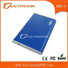 "Blue External USB 2.0 Hard Disk Drive 2.5"" SATA Enclosure HDD Case Portable"