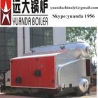 Industrial wood pellet boiler steam generator, steam heating system