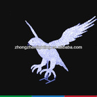LED decoration motif light, animal light LED crystal sculpture for eagle