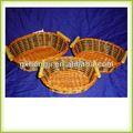 tejido de cesta de la cesta de helecho cestos de paja con asas