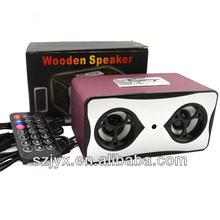 New Arrival Mini Remote Control Wireless Portable Retro Style Speaker, Wooden Speaker