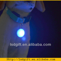 fashion pet product flashing led dog collar pendant wholesale