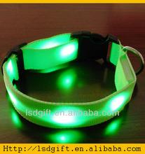 Dog training collar glowing LED dog leash