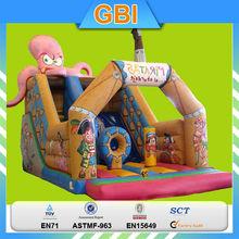 Violet Octopus Inflatable Water Slide for Kids