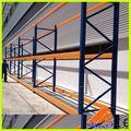 Heavy duty prateleiras de madeira, barra de prateleiras, tubulação de aço prateleiras