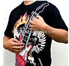 Led flashing playable Electronic Rock Guitar t-shirts