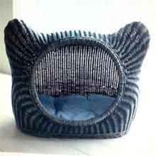 2014 pet furniture rattan cat bed