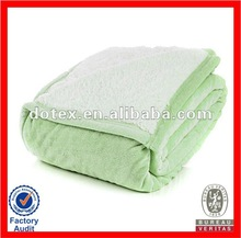 Walmart in cooperation no pilling fire retardant 20 times washing home use super soft throw blanket
