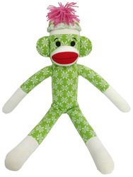 knit pattern stuffed soft monkey