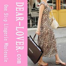 Fashionable summer girl Gorgeous Leopard Maxi Dress 2014 NEW
