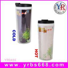 Color changing mug promotional plastic mug cup/promotional plastic water cups/promotional plastic stadium cups