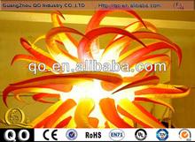 Heat sale dynamic inflatable shape balloon stars lighting