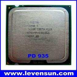 Used pull clean intel pentium D PD-935 3.20GHz 2*2M,800MHz,775pin,65nm dual core cpu processor