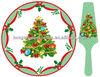 ceramic christmas tree cake plate/cake tray