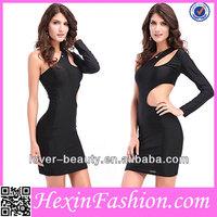 Wholesale Beauty Erotic Simple Black Bodycon Bandage Dress