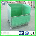 cuadro de malla de alambre de la jaula de metal bin contenedor de almacenamiento