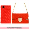 Crystal Decorated Faux Leather Flip Case with Magnetic Closure for iphone 4S 4 Orange