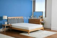 Scandinavian and contemporary modern oak bed