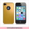 Aluminum Protective Case with Hole for iphone 4 4S Gold