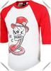 wholesale mens custom design raglan 3/4 sleeve t shirt , high quality 100% cotton screen printed graphic t shirt for men